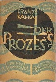 <i>The Trial</i> 1925 novel by Franz Kafka