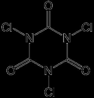 Trichloroisocyanuric acid - Image: Trichloorisocyanuurz uur