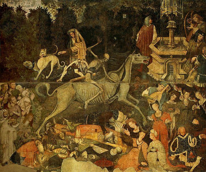 File:Trionfo della morte, già a palazzo sclafani, galleria regionale di Palazzo Abbatellis, palermo (1446) , affresco staccato.jpg