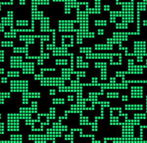 Reversible cellular automaton - The rectilinear shapes generated by the Tron rule