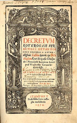 István Werbőczy - His influential work: Tripartitum