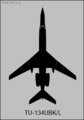 Tupolev Tu-134UBK-L top-view silhouette.png