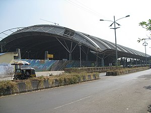 Turbhe railway station - The station structure was designed by Hafeez Contractor