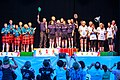 Turin, Italy…2013 WMG medal presentations…medalists 65-A team event (10831279653).jpg