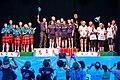 Turin, Italy…2013 WMG medal presentations…medalists 65-A team event (10831279653).jpg