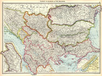 Vilayet - Image: Turkey in Europe and the Balkans, 1910