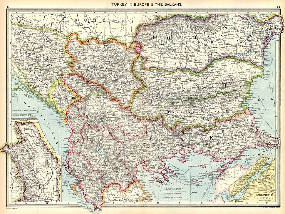 Turkey in Europe and the Balkans, 1910