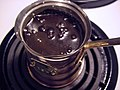 Turkish coffee starting to boil.jpg