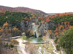 Davis, Oklahoma - Turner Falls, in the Arbuckle Mountains near Davis