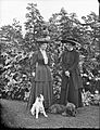 Two ladies with elegant hats and two dog - Yeehaw! (25856145270).jpg