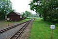 Two tracks rejoin at Irton Road Station - geograph.org.uk - 1337310.jpg