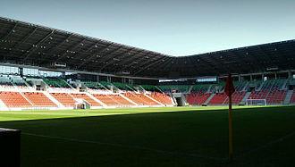 Tychy City Stadium - Image: Tychy stadion wewn