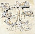 Typical Malnutrition Cases- Australian and British Prisoners-of-war just released from Lintang Barracks, Kuching, borneo Art.IWMARTLD5884.jpg