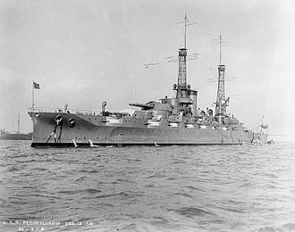 USS Pennsylvania (BB-38) - Pennsylvania in her original configuration, December 1916