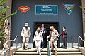 U.S. Secretary of State Hillary Rodham Clinton, center, exits the Installation Personnel Administration Center during her tour of Marine Corps Air Station (MCAS) Miramar, Calif., Aug 30, 2012 120830-M-GC438-063.jpg