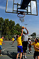 U.S. Soldiers, assigned to 5th Battalion, 7th Air Defense Artillery Regiment, and Israeli Defense Forces soldiers compete in a basketball game during a field competition in Hazor, Israel 121101-F-QW942-442.jpg