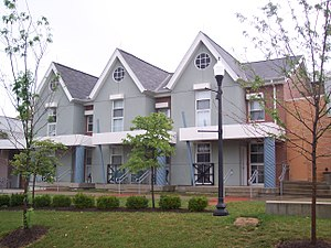 University of Dayton Ghetto - 306, 308 and 310 Kiefaber Street, three of the units in the ArtStreet complex