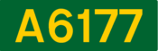 A6177 road shield