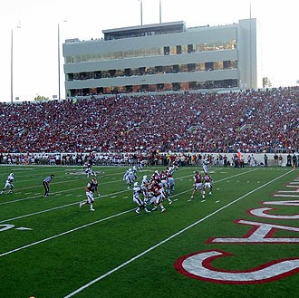War Memorial Stadium (Arkansas) - Image: ULM at Arkansas, 2012 005