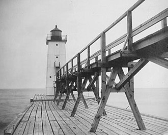 Frankfort Light - U.S. Coast Guard Archive Photo of original light