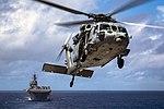 USS Bonhomme Richard conducts a replenishment-at-sea. (29363825270).jpg