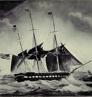 William Radford - USS Brandywine off Malta, November 6, 1831