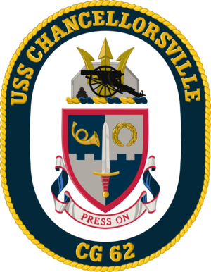 USS Chancellorsville - Image: USS Chancellorsville CG 62 Crest