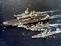 USS Enterprise (CVAN-65) with cruisers in the Gulf of Tonkin 1972.jpg