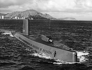 USS Halibut (SSGN-587) - Image: USS Halibut with bow thruster