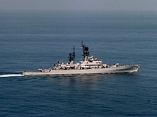 USS <i>Halsey</i> (DLG-23) Leahy-class guided missile cruiser of the United States Navy