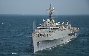 USS Ponce (LPD-15) - In September 2014 after conversion to AFSB