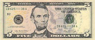 United States five-dollar bill - Image: US $5 Series 2006 obverse