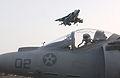 US Navy 030323-N-3181R-012 An AV-8B Harrier begins its vertical landing aboard USS Bonhomme Richard (LHD 6).jpg