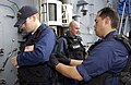US Navy 030617-N-9251B-097 Crewmembers of the USS O'Bannon (DD 987) Visit Board Search and Seizure team (VBSS) check their gear as they prepare to conduct a Maritime Interdiction Operation (MIO) training exercise.jpg