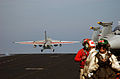 US Navy 051213-N-7241L-006 An S-3B Viking, assigned to the Scouts of Sea Control Squadron Two Four (VS-24), launches from the flight deck of the Nimitz-class aircraft carrier USS Theodore Roosevelt (CVN 71).jpg