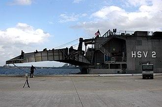 HSV-2 Swift - Swift showing ramp detail, returning to Mayport after GFS deployment, 30 September 2007.