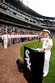 US Navy 080604-N-8848T-699 Cmdr. David R. Klain, the commanding officer of Navy Recruiting District Chicago, swears 90 Delayed Entry Personnel into the Navy at U.S. Cellular Field.jpg