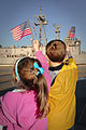 US Navy 100209-N-1522S-004 achel and James Grieco wave to their father, Lt. Cmdr. James Grieco as the guided-missile frigate USS Underwood (FFG 36) returns to Naval Station Mayport.jpg
