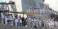 US Navy 100806-N-3666S-048 Sailors man the rails aboard the guided-missile destroyer USS Russell (DDG 59) as the ship returns to Joint Base Pearl Harbor-Hickam.jpg