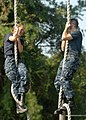 US Navy 100809-N-3857R-005 U.S. Naval Academy midshipmen navigate through the Naval Support Activity Annapolis obstacle course.jpg