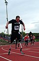 US Navy 110517-N-UD644-068 Lt. Dan Cnossen (SEAL) competes in the Warrior Games 800 meter race at the Olympic Training Center.jpg