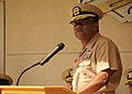 US Navy 110603-N-DI719-081 Vice Adm. D.C. Curtis speaks during a change of command ceremony.jpg
