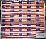 US historical flags-United States of America