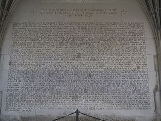 Soldiers' Tower - First WWII memorial panel