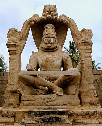 Karnataka - Statue of Ugranarasimha at Hampi, located within the ruins of Vijayanagara, the former capital of the Vijayanagara Empire