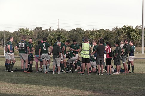 Uni halftime vs. Caloundra April 26, 2014.JPG