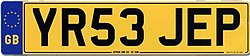 United Kingdom license plate GB YR53 JEP.jpg