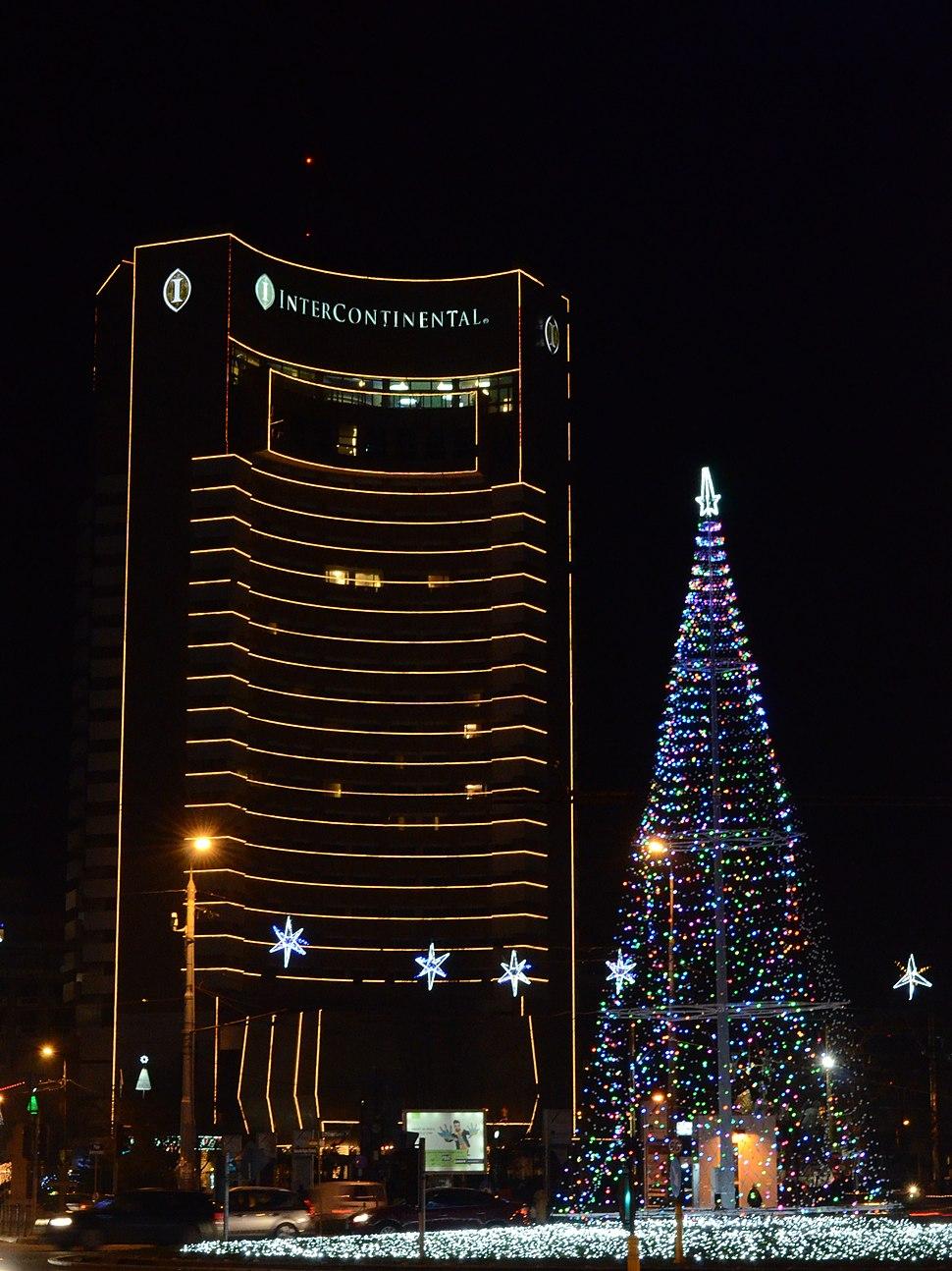 University Square, Bucharest (at night)