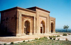 Kara-Khanid Khanate - 11th–12th-century Karakhanid mausolea in Uzgen, Kyrgyzstan.