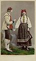 Världsutställningen i Paris 1867. Man och kvinna i dräkter från Hetterdal, Telemarken, Norge - Nordiska Museet - NMA.0039954.jpg